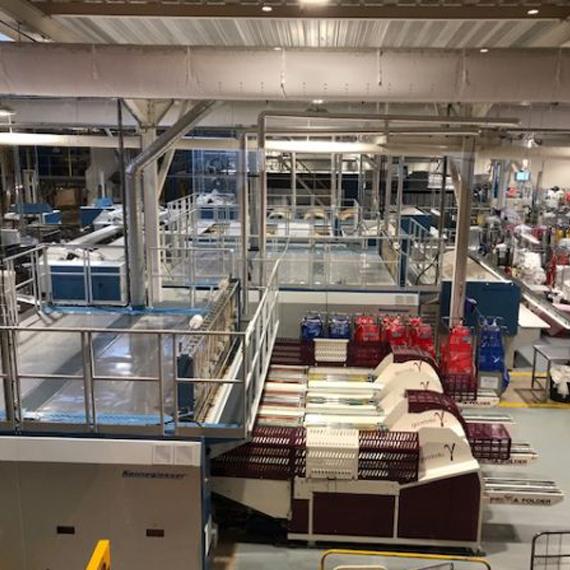 Parc machines de la blanchisserie Gallia